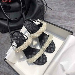 $enCountryForm.capitalKeyWord Australia - 2019 new European and american style pearl decoration zt22 Classic high-end air sandals for ladies With Dust Bag