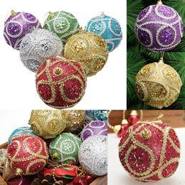 $enCountryForm.capitalKeyWord Australia - Merry Christmas Xmas tree decor Rhinestone Glitter Baubles Balls hanging Ornament winter decorations New year noel 2018 droship