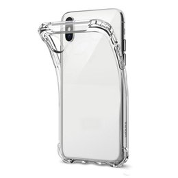$enCountryForm.capitalKeyWord UK - For iPhone X XS MAX XR 7 8 Clear TPU Cellphone Case Shock Absorption Soft Transparent Back Cover For Samsung S9 S10 Plus S10e DHL Free