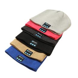 Ski baSeball capS online shopping - Free DHL Bluetooth Music Beanie Hat Cap Stereo Wireless Earphone Speaker Microphone Handsfree Knitting Music Hat Colors M641F