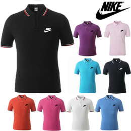 Wholesale Men Polo Shirt Summer Men Business Casual Breathable White Striped Short Sleeve Polo Shirt Pure Cotton Work Clothes Polos XL Size