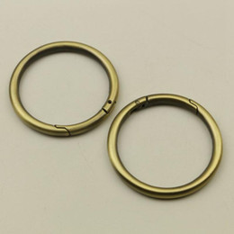 $enCountryForm.capitalKeyWord Australia - 50mm Open Spring O Rings Clasp Clip Buckle for Luggage Handbag Key Chain Hook Hardware Leather Crafts Accessories