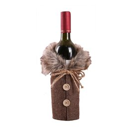 $enCountryForm.capitalKeyWord Australia - Christmas Wine Bottle Bags Cover Christmas Party Decorations for Home Gift Champagne Holders Xmas Home Party Table Decors