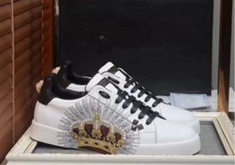 Customs Sneakers NZ - High-end custom metal studded spikes casual shoes 2017new for men and women low top sneakers with soft bottom,genuine leather size:38-44