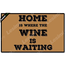 $enCountryForm.capitalKeyWord NZ - Home is Where The Wine Is Waiting Custom Text Printed Doormat Welcome Entrance Floor Mat Funny Non Slip Gate Door Mat Shoes Pad
