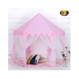 tent castle NZ - Children Tent Toy Ball Pool Girl Princess Pink Castle Tents Small Playhouses For Kids Portable Kids Outdoor Play Tents Toy 514