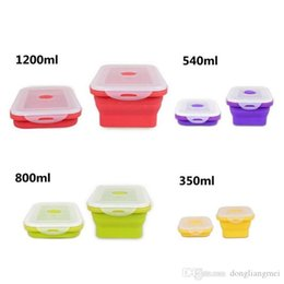 $enCountryForm.capitalKeyWord Australia - 2020 foldable silicone lunch box picnic camping Outdoor Portable bucket or crisper food storage container 350ml 540ml 800ml 1200ml h127