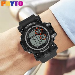 High End Sports Watches Australia - LED Waterproof Digital Watch Men Fashion High-End Multi-Function 30M Sports Waterproof Electronic Watch Relojes