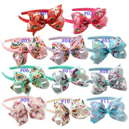 $enCountryForm.capitalKeyWord Australia - Kids Headwear Unicorn Headband Baby Girl Bows Baby Cheerleader Headbands Headbands Unicorn Accessories Party Supplies 50 p