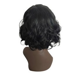 Chinese  Factory price 1pc Women Fashion Lady Black Short Straight Bobo Wig Front Hair Side-parted Wigs Fashionable Wigs Stand Mar15 manufacturers