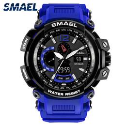 Men S Big Watch Australia - BRW New Military Watch Waterproof 50M S Shock Resitant Sport Watches saat Digital Clock Men Military Army 1702 Big Men Watch Sport