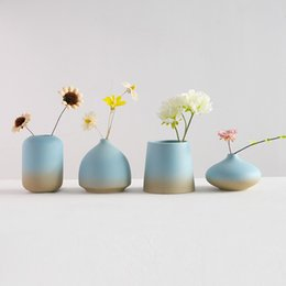 $enCountryForm.capitalKeyWord UK - New Chinese Ceramics Vase Hydroponics Dry Flowers Crafts Flower Arrangement Container Countertop Vase Home Decoration