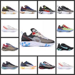 Vente en gros (Sans boîte) 2019 Élément de réaction de haute qualité 87 Undercpver x À venir Hommes Mode Luxe Design Femmes Chaussures Chaussures De Sport