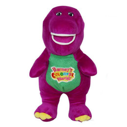 $enCountryForm.capitalKeyWord NZ - 11 Inch Singing Friends Kids Toys Dinosaur Barney Sing I LOVE YOU Plush Doll Toy Christmas Gift For Children Plush Toys Animals