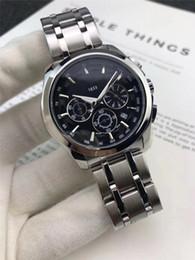 Best Working Dresses Australia - Fashion Stainless Steel Men Watch All Subdial Work Quartz Watch Men Dress Business Date Male Watch Luxury Wristwatch Best Gift For Men