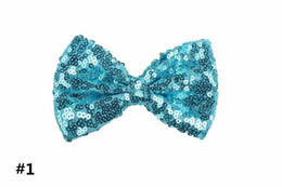 $enCountryForm.capitalKeyWord UK - 11cm Headbands Accessories Sequin Bow DIY Baby Boutique Hair Bows without Alligator Clip for Girls