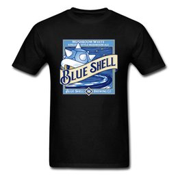 Blue Shell Beer T-shirt Super Mario T Shirt Men Turtle Shell Tops Cotton Tees Summer Black Clothes Fitness Tshirt