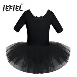 63ce64bfe8ed Ballet 4 Color Teen Children Cotton Ballet Tutu Dress Costumes Gymnastics  Leotard Exercise for Girls Kids Dancing Class Ballerina