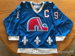 bce43df64 Joe Sakic Quebec Nordiqu Hockey Jersey Embroidery Stitched Customize any  number and name