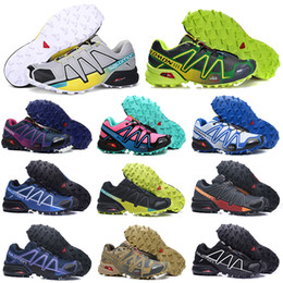 Lace cross online shopping - Salomon Speedcross CS Trail Running Shoes Speed Cross III IV Chaussures Women Mens Trainers Outdoor zapatos Hiking Sports Sneakers