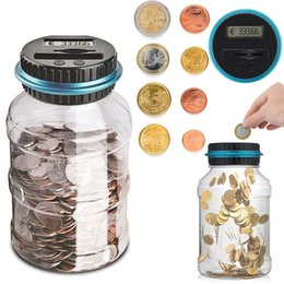 piggy bank coin storage Australia - Konesky 1.8l Piggy Bank Counter Electronic Digital Lcd Counting Coin Money Saving Coins Storage Box For Usd euro gbp Q190606