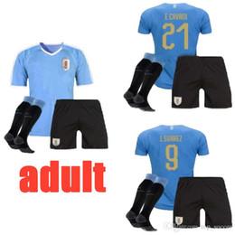 National Football Jerseys NZ - 2019 2020 adult Uruguay Soccer Jersey 19 20 Home 9 L.suarez 21 E.cavani Soccer Shirt #3 D.GODIN Away National Team Football Uniforms