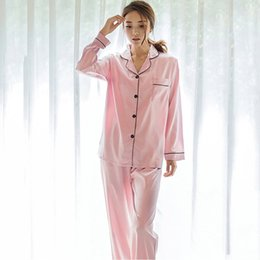 $enCountryForm.capitalKeyWord Australia - Satin Pajamas Plus Size Pink Pajama Sets Women Korean Casual Basic Set Home Sleepwear Clothes Autumn Pijama Mujer Underwear 2019