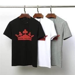 Crown Tee Australia - Mens Designer Summer T Shirt Men Women Luxury Brand Tees Shirts Red Crown Print Anti-shrinkage T Shirt Casual Clothing Size M-2XL