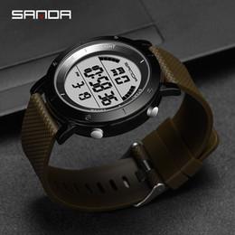 $enCountryForm.capitalKeyWord Australia - SANDA Men Sports Watches 2018 New Waterproof Digital Wristwatches For Man Electronic Army Men Wrist watch Male Clock hombre 410