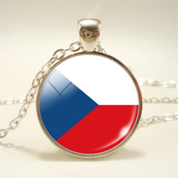 $enCountryForm.capitalKeyWord Australia - Hot New Style Czech Republic National Flag World Time Gem Glass Dome Choker Necklace Long Sweater Chain Pendant Jewelry Bijoux For Women Men