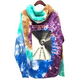 $enCountryForm.capitalKeyWord NZ - Travis Scott Astroworld Festival Run Tie Dye Hoodie Autumn Spring Style Hip Hop Drew House TIE-DYE Women and Men Sweatshirt