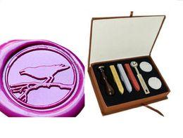 Wood Stamp Kit Australia - Vintgae Bird on the branch Wax Seal Stamp Kit Gift Box Set for Wedding Invitation 20style for choice
