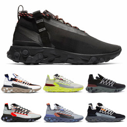 reacts sneaker 2020 - React LW WR Mid ISPA Men Running Shoes Ghost Aqua Anthracite Blue Orange Gun Smoke Wolf Grey Women Mens Trainers Sports