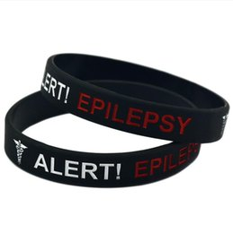 $enCountryForm.capitalKeyWord UK - designer jewelry Alert Epilepsy bracelets silicone warning track concave carved coloring bracelets for women hot fashion