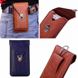 """$enCountryForm.capitalKeyWord NZ - 6.0"""" Universal Clip belt Holster Hasp Leather Case For iPhone X 8 7 6 6S Plus Samsung Galaxy S9 S8 S6 S7 Edge S5 Huawei MOTO Card Bag 35pcs"""