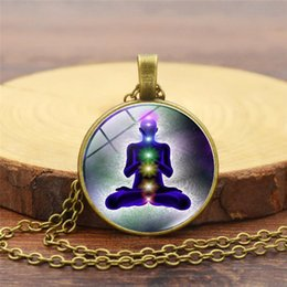Happiness necklace pendant online shopping - 2019 New Fashion Pendant Necklace Vintage Yoga Happiness Meridian Time Gem Necklace Hot Sale Small Gifts
