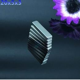 Rare Earth Disc Magnets Sale Australia - Hot Sale 50pcs N50 20x5x3mm Strong Block Cuboid Magnets Rare Earth Neodymium Magnets 20*5*3
