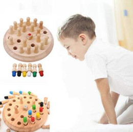 Kids Block Games Australia - Kids Memory Match Stick Chess Game Toy Kids Montessori Educational Block Toys Kids Early Educational Party Favor CCA11126 20pcs