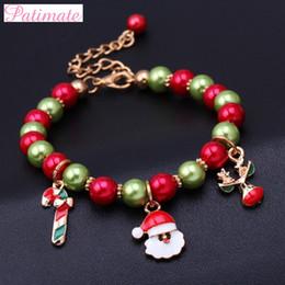 $enCountryForm.capitalKeyWord NZ - PATIMATE Women Christmas Santa Claus Bracelet Pendant Christmas Decoration for Home 2019 Happy New Year Ornaments Xmas