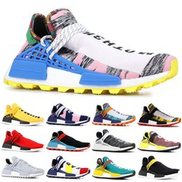 b690fba5a Human Race NMD Runing Shoes With Box Men Women Solar Pack Black Yellow PW  Black Nerd Pharrell Williams Designer Sport Sneakers