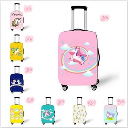 ed309b250 Wholesale 18-28 inch Kids Fashionable Unicorn Luggage Suitcase Cover Cute  High Elastic Thickening Dust And Scratch Protection Cover