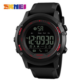 China DHL SKMEI Men Smart Watch Pedometer Waterproof Remote Camera Calorie Bluetooth Watches Relogio Masculino for ios android phone 1321 cheap secrets camera suppliers