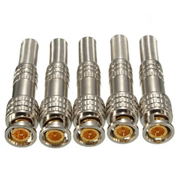 $enCountryForm.capitalKeyWord Australia - PURE COPPER BNC Video Male Connector Plug to RG59 Coaxial Cable Coupler Adapter for Security Camera