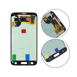 samsung galaxy s5 touch screen digitizer Australia - LCD For Samsung Galaxy S5 i9600 G900F G900H G900M G900 White black Touch LCD Screen display Digitizer Replacement free shipping