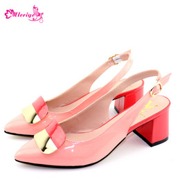 pink glitter shoes NZ - Fashion pink Shoes possible match dinner bag set Free Shipping African Woman Shoes without bag