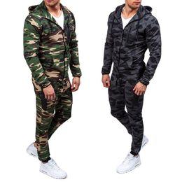 Men caMouflage suit jacket online shopping - ZOGAA New Camouflage Printed Men Set Causal Jacket Men Tracksuit Sportswear Hoodies Sweatshirt Pants Jogger Suit
