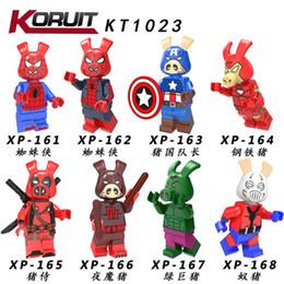 Batman Blocks Australia - 80 pcs Iron Man Super Hero captain america thor ant-man super man batman building blocks bricks minifiguas compatible with legoing