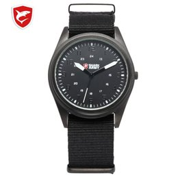 ultra thin slim watch Australia - ARMY Brand Men Sports Watches Ultra Thin Slim Case Quartz Clock Nylon Strap Male Watch relogio masculino  SAW039