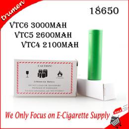 Опт 2019 100% высокое качество SONY VTC6 3000 мАч VTC5 2600 мАч VTC4 2100 мАч 3.7 В литий-ионная аккумуляторная батарея 18650 Используется для Ecig Box Mods