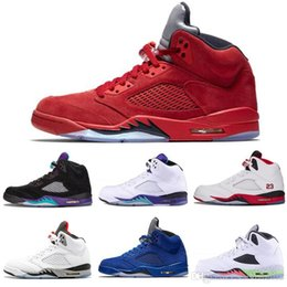 $enCountryForm.capitalKeyWord Australia - New arrival mens Basketball shoes 5 5s Black Grape White Cement Olympic Gold Medal Space Jam Blue Fire Red Sport Sneakers size 7-13